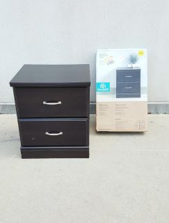 Two Sauder Storybook Night Stands in Jamocha Wood Finish