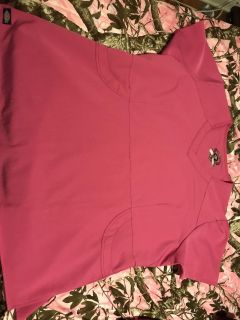 Size 2x pink Scrub Top, only worn once.