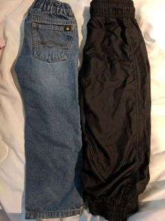 Size 4t Lucky Brand Jeans & Childrens Place joggers. Excellent condition