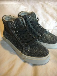 Girls sparkly high tops