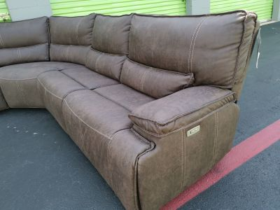 Fabric Power Reclining Sectional - NEW
