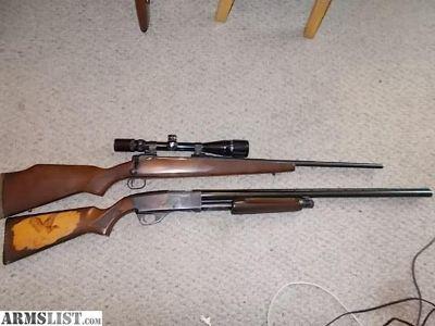For Sale: Savage 110 .270 Stevens model 79 12ga pump