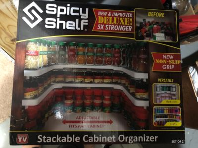 New Stackable cabinet organizer