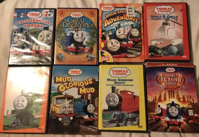 DVD s Thomas the train, Bundle $25 for all 8 !! All work Great!!