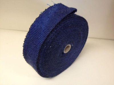 Purchase BLUE Motorcycle 50' Header/Exhaust Pipe Wrap w/5 Ties motorcycle in Atoka, Tennessee, US, for US $23.95