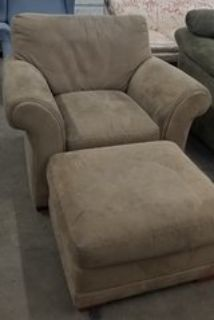 REDUCED chair and ottoman
