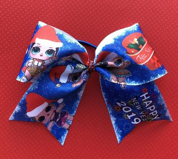 LOL Doll Cheer Bow Ponytail for Christmas holiday or New Years