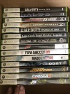 XBox 360 games-selling as a set