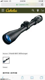For Sale: Brand new Nikon 3x9x40 scope