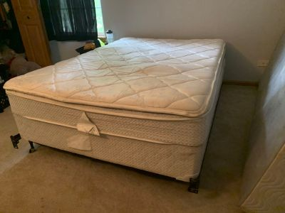 Full size mattress,box spring, and frame