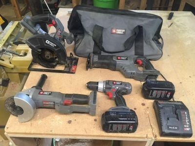 4-piece Porter Cable Toolset