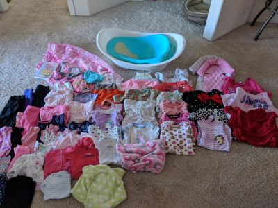 61 piece baby girl lot