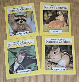 4 Vintage 1985 Getting To Know Natures Children 2 Sided Books 2 In 1 Hard Cover