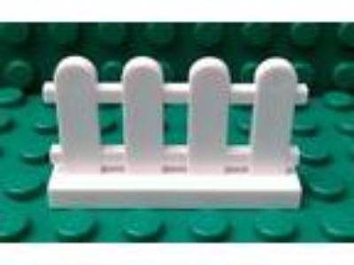 NEW LEGO PARTS 1x4x2 White Picket Fence - Lot of 12 - FAST
