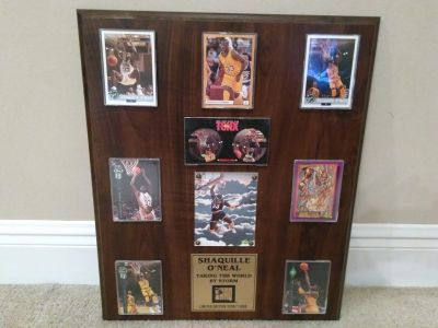Shaquille O'Neal Taking the World by Storm Plaque