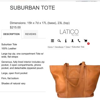 Real Leather Tote
