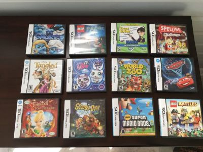 12 Nintendo DS Games; Boys, Girls and Educational