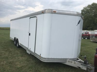 Featherlite enclosed car hauler trailer