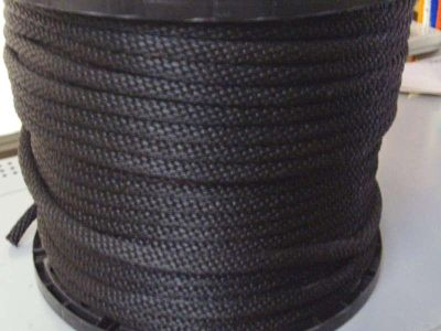 "Purchase anchor rope, docline, 1/4"" X 166' BLACK BRAIDED ROPE Made in USA motorcycle in Hamilton, Alabama, US, for US $35.99"