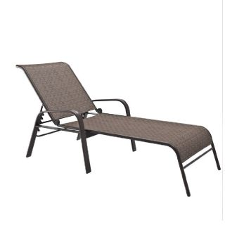 Reclining Lounger- Brown