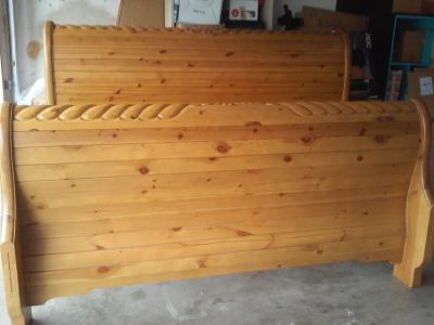 Oak bed king size