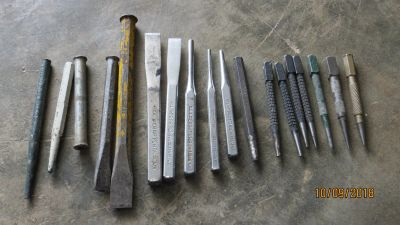 Lot of 18 Chisels & Punches 5 are CRAFTSMAN