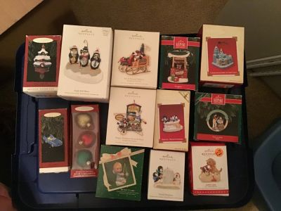 Hallmark Keepsake Ornaments and other collectible ornaments