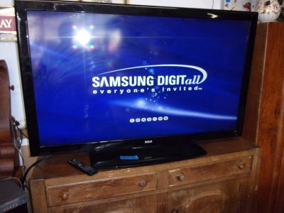 "RCA 55"" Flat Screen Television With Remote"