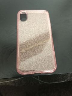 Pink Glittering Speck case for iPhone X