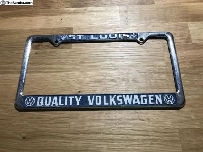 St. Louis Quality Volkswagen Lic plate frame