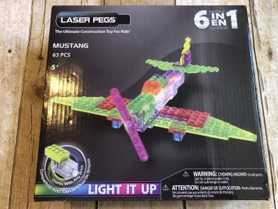 New in box laser pegs 6 in 1 mustang set lights up STEM toy great Christmas gift $10
