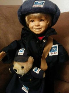 Mail carrier boy doll with extra hoodie and Jacket
