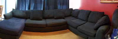 Bauhaus blue three piece sectional. Moving Sale!