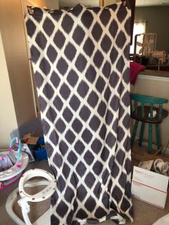 Set of 2 grey ikat curtains 40x84