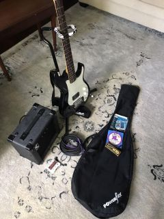 Guitar, amp and accessories