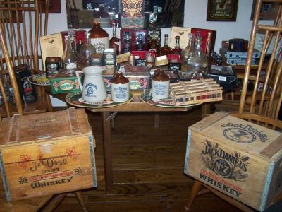 Jack Daniels Collectable Wood Crates Tins Decanters