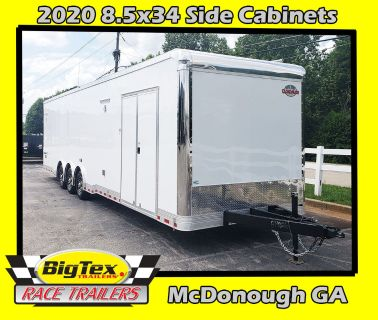2020 8.5x34 Cargo Mate w/Side Cabinets ,... LOADED