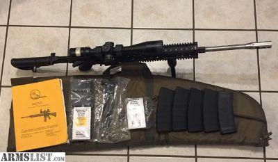 For Sale: Custom Sub MOA AR-15 - Bullet on bullet at 100yd.