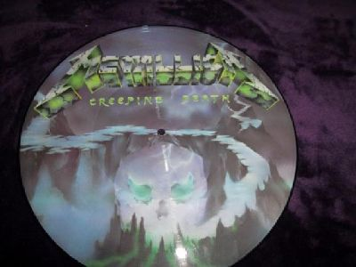 "$75 Metallica 1984 ""Creeping Death"" 12"" LP 3 Track Picture Disc"