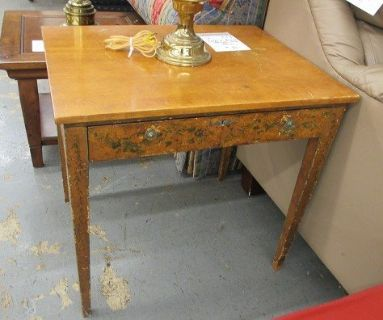 Hand-Painted Antique Side Table