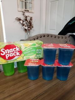 Juicy Gels Super Size Snack Packs. Lemon-Lime and Berry Blue. All for $1.50