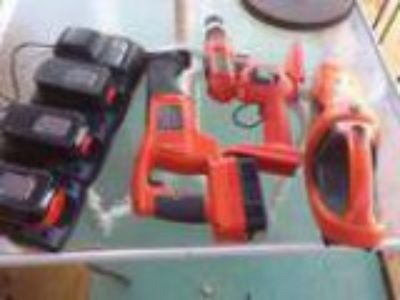 v Black and Decker set with batteries (rd ave and cactus r