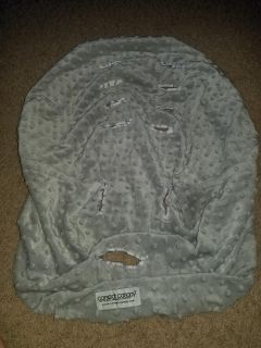 Car seat canopy grey soft carseat cover
