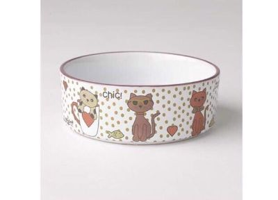 BRAND NEW PetRageous 5 Chic Kitty Multi Shimmer Cat Bowl