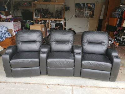 Leather theater chair