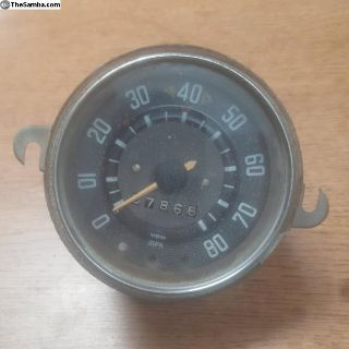 Bus speedometer dated 9/1963