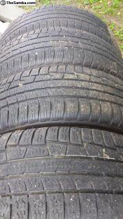 Eurovan tires, 4 Nokian 205/65R15 on steel rims