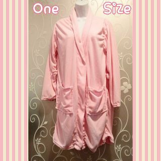 WOMENS SOFT PINK ROBE ONE SIZE (READ)