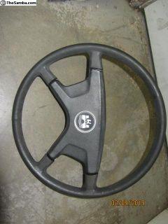 late bug padded steering wheel