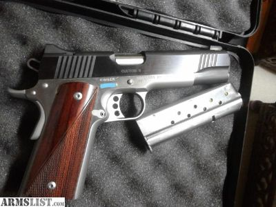 "For Sale/Trade: Kimber 1911 Custom II Two Tone 5"" barrel 9mm Rosewood grips"